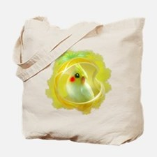 Whimsical Cockatiel -Yellow Bird Tote Bag