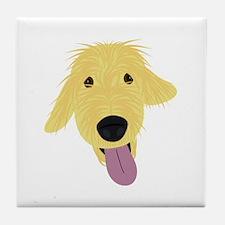 Goldendoodle Illustration Tile Coaster