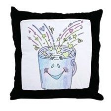 Happy Bucket Throw Pillow