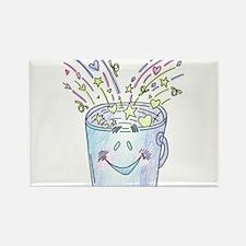 Happy Bucket Rectangle Magnet