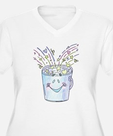 Happy Bucket Plus Size T-Shirt