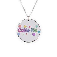 Cutie Pie Necklace Circle Charm