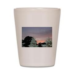 Colorful Sunset Shot Glass