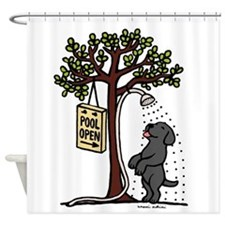 Black Labrador Shower Shower Curtain