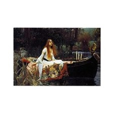 The Lady Of Shalott Rectangle Magnet