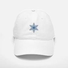 Blue Snowflake Baseball Baseball Baseball Cap