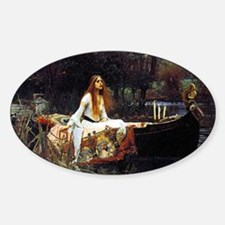 The Lady Of Shalott Sticker (Oval)