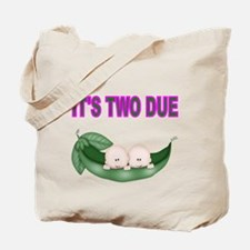 ITS TWO DUE-TWINS IN PEA POD 2 Tote Bag
