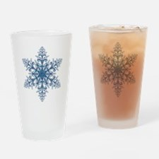 Blue Snowflake Drinking Glass