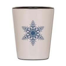 Blue Snowflake Shot Glass