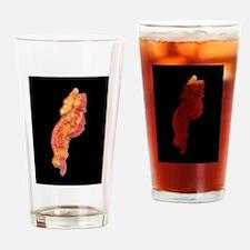 bacon dark shoe horz Drinking Glass