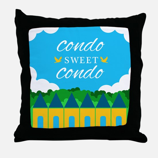 Condo Sweet Condo Throw Pillow