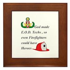 EOD - Firefighter hero Framed Tile
