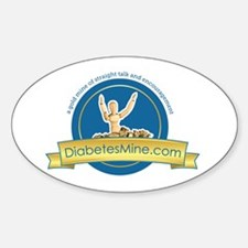 DiabetesMine.com Oval Decal