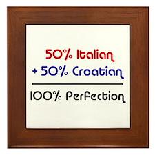 Italian & Croatian Framed Tile