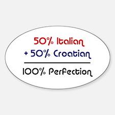 Italian & Croatian Oval Decal