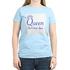 QUEEN (blue) for any Realtor T-Shirt