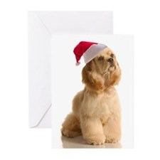 Santa Cocker Greeting Cards (Pk of 20)