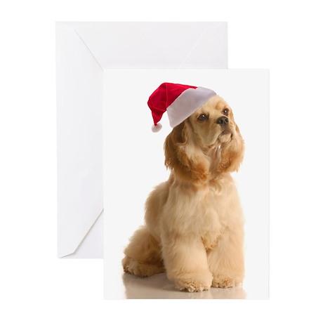 Santa Cocker Cards (Pk of 10)