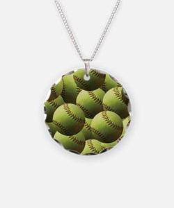 Softball Wallpaper Necklace