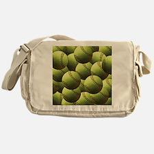 Softball Wallpaper Messenger Bag