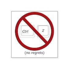 control z undo ctrl z no regrets Sticker