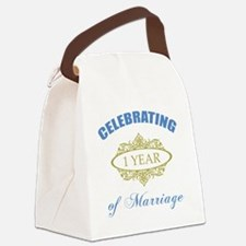 Celebrating 1 Year Of Marriage Canvas Lunch Bag