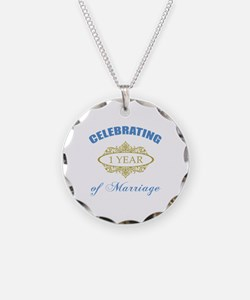 Celebrating 1 Year Of Marriage Necklace
