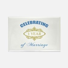 Celebrating 1 Year Of Marriage Rectangle Magnet