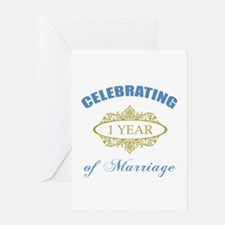 Celebrating 1 Year Of Marriage Greeting Card