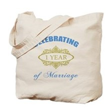Celebrating 1 Year Of Marriage Tote Bag