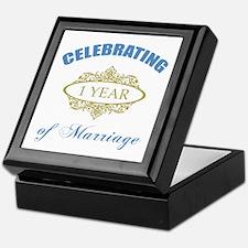 Celebrating 1 Year Of Marriage Keepsake Box