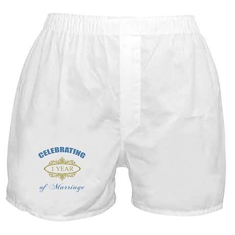 Celebrating 1 Year Of Marriage Boxer Shorts