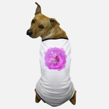 Whimsical Pink Fish Dog T-Shirt