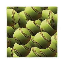 Softball Wallpaper Queen Duvet