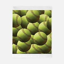 Softball Wallpaper Twin Duvet