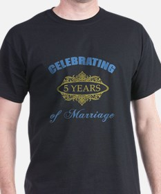 Celebrating 5 Years Of Marriage T-Shirt