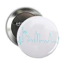 "New York Heartbeat AQUA 2.25"" Button"
