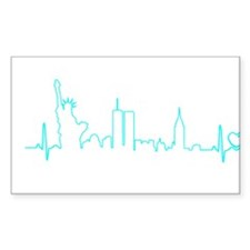New York Heartbeat (Heart) AQUA Decal