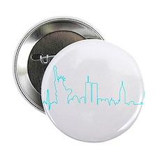"New York Heartbeat (Heart) AQUA 2.25"" Button"