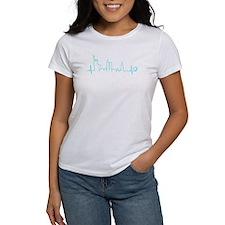 New York Heartbeat (Heart) AQUA T-Shirt