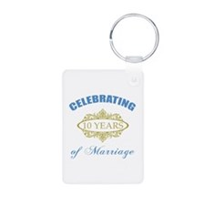 Celebrating 10 Years Of Marriage Keychains