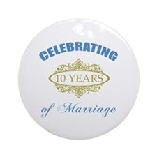 Celebrating 10 Years Of Marriage Ornament (Round)