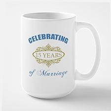Celebrating 15 Years Of Marriage Mug