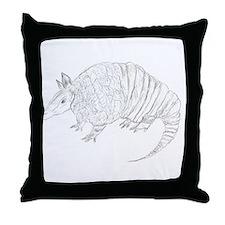 Armadillo Sketch....Original! Throw Pillow