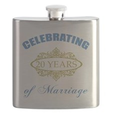Celebrating 20 Years Of Marriage Flask