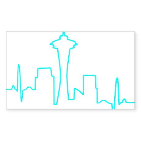 Seattle Heartbeat AQUA Sticker