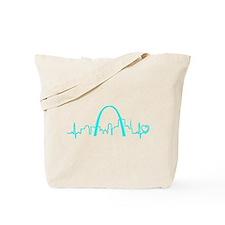 St. Louis Heartbeat (Heart) AQUA Tote Bag