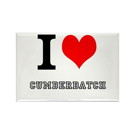 I heart cumberbatch Rectangle Magnet