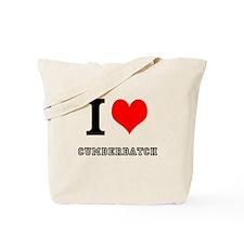 I heart cumberbatch Tote Bag
